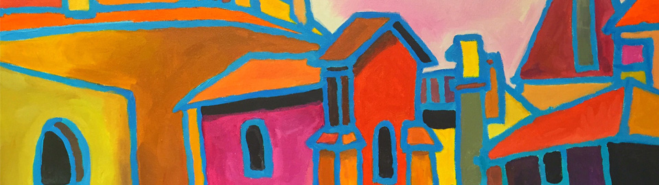 Village Church - 24 x 36