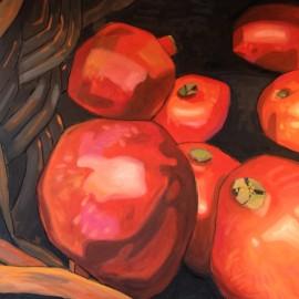 Pomegranates at the market
